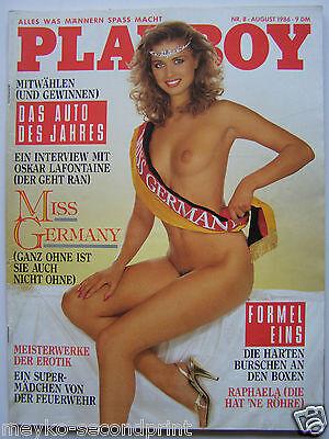 Playboy - D 8/1986, Anke Symkowitz, Raphaella Dell, Carole Ficatier, Hightower
