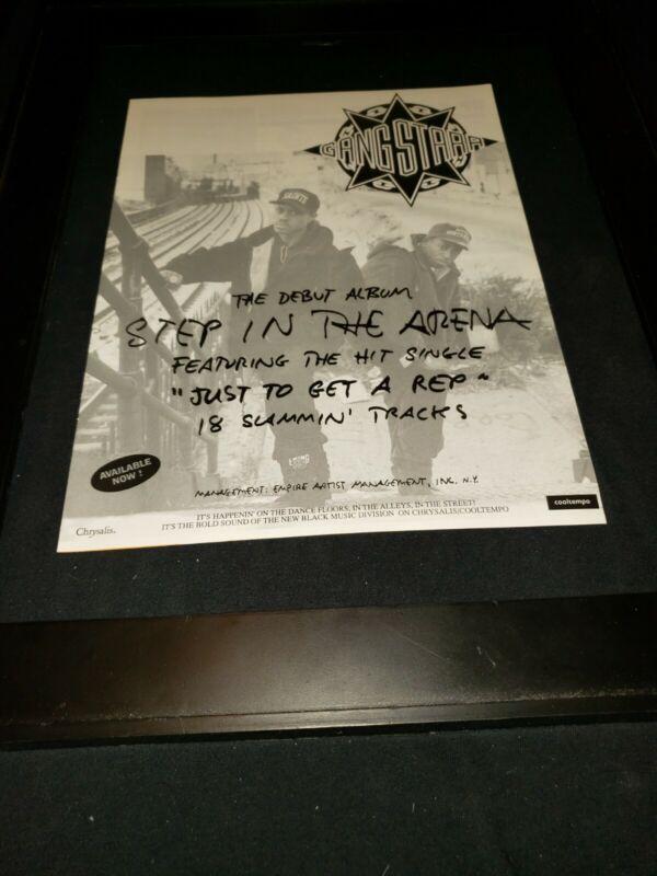 Gang Starr Just To Get A Rep Rare Original Radio Promo Ad Framed!