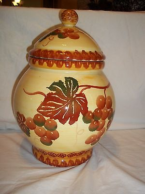 COOKIE JAR LARGE GRAPES, MADE IN CHINA  APX 11 1/2""