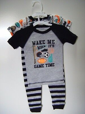 Carters Just One You 4 Piece Sports Boys Snug Fit 4 Piece Pajama Set