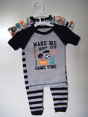 Carter's Just One You 4-Piece Sports, Boys' Snug Fit 4-Piece Pajama Set