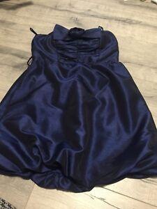 Blue bubble dress