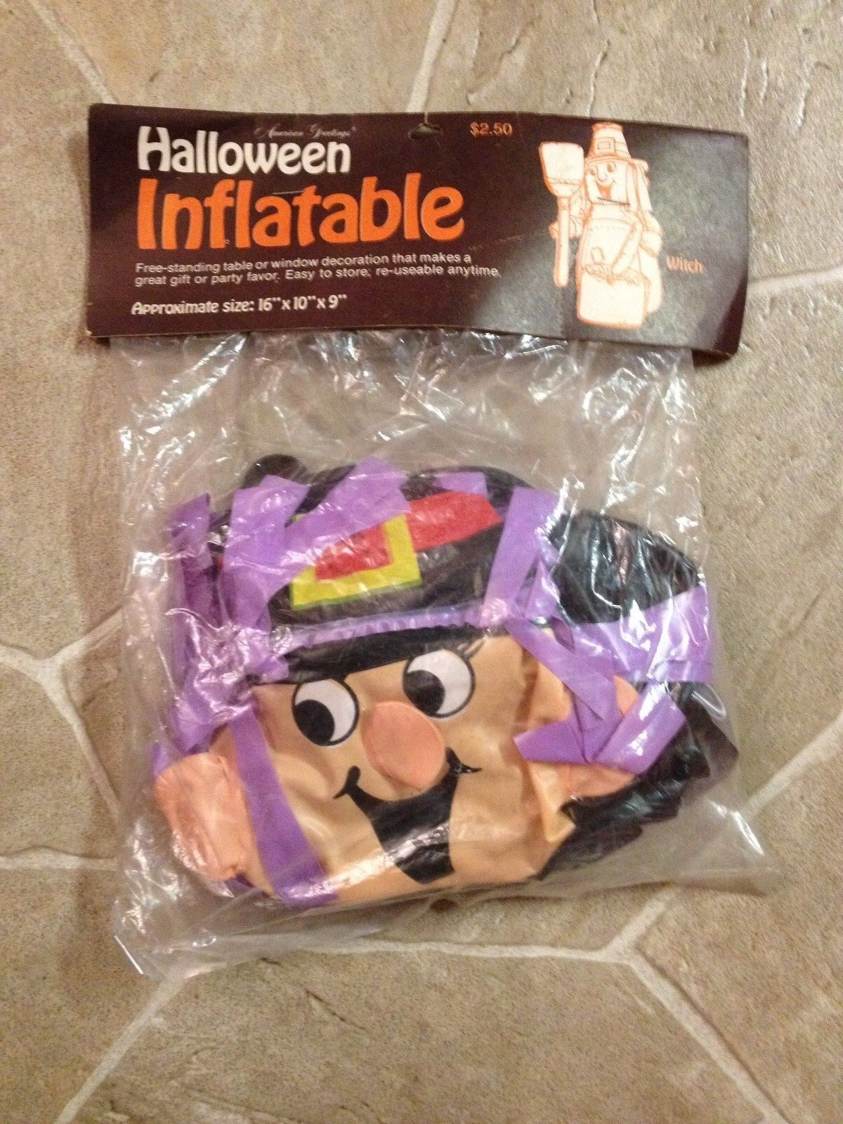 Vintage American Greetings Halloween Inflatable Witch (unopened)