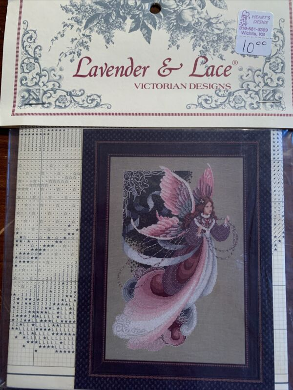 "Lavender & Lace Cross Stitch Leaflet ""Fairy Dreams"" Marilyn Leavitt-Imblum"