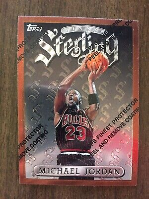 1996-97 Michael Jordan Topps Finest Sterling #50 w/ Protective Coating