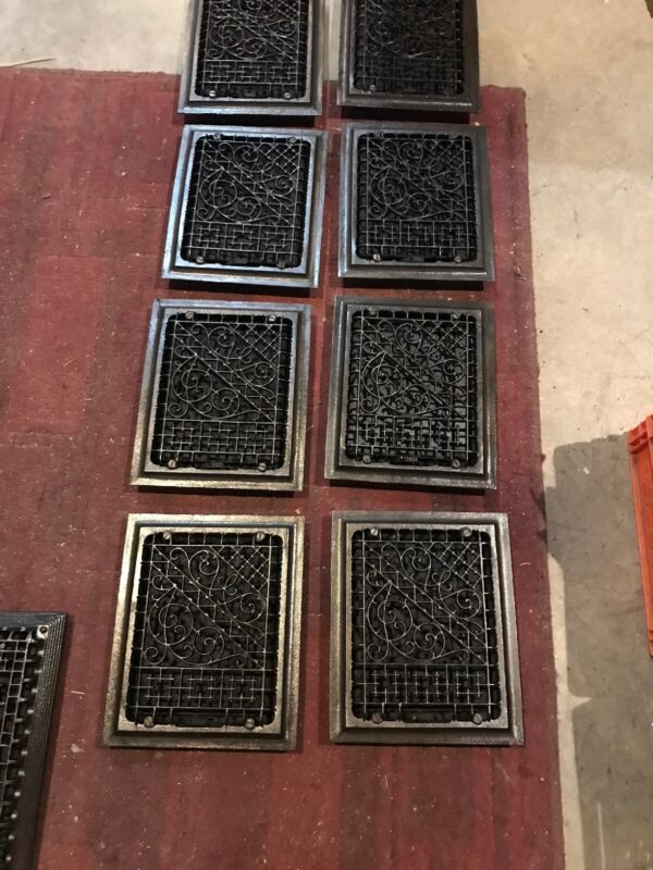 Rg 8 Available Price Each Cast-Iron Antique Wall Mnt Heating Grate 9.75 x 11.75