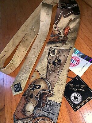 NWT Eagles Wings Purdue Boilermakers College Sports & Nostalgia Silk Neck - Eagles Wings Purdue Boilermakers Necktie