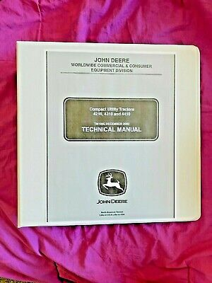 John Deere 4210 4310 4410 Utility Tractor Technical Service Repair Manual Tm1985