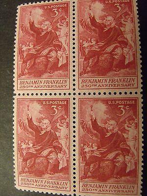 US Postage Stamps 1956 Ben Franklin Electricity  4- 3c Scott 1073