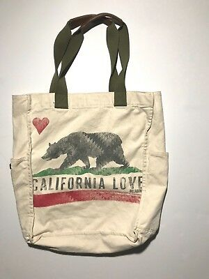 California Love Canvas Tote bag NWOT - California Tote Bag