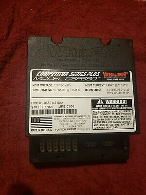 Whelen Csp-690 6 Port 90w Competition Series Plus Strobe Power Supply Controller