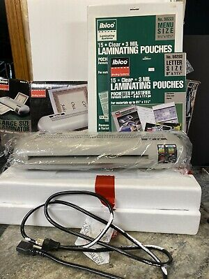 Ibico El-12 Commercial Laminating Machine Wseparate Temperature Settings Excell