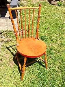 Antique maple kitchen or dining room chair.