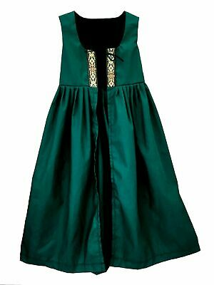 CHILD GIRLS RENAISSANCE PRINCESS MEDIEVAL PRAIRIE COSTUME IRISH OVER DRESS - Renaissance Costume Kids