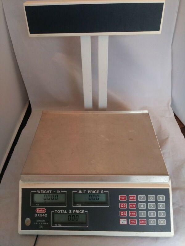 Berkel DX342 Scale Price Computing Weighing Machine 15lb x 0.01 Shop Scale+++