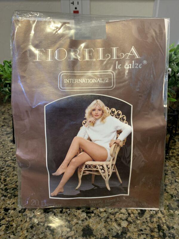 Vintage Fiorella Le Calze Italy Tights in Silver Womens Size XL Unworn Fantastic