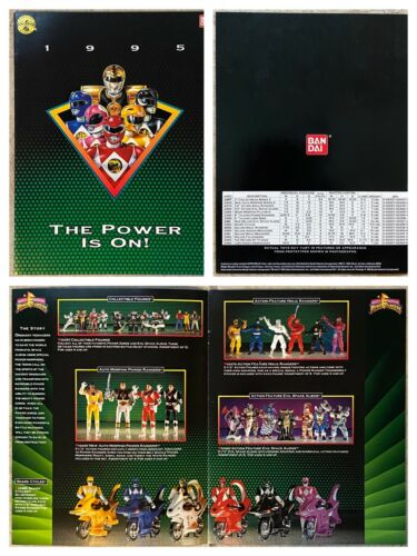 Bandai 1995 Toy Fair Catalog THE POWER IS ON! MMPR Power Rangers Serpentera