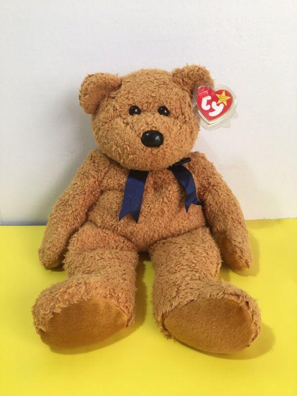 1999 Original Ty Beanie Baby BUDDY, Fuzz The Bear