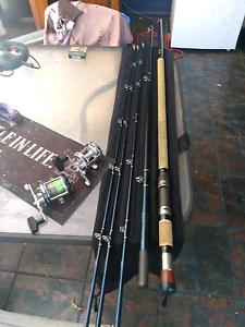 Abu Garcia 6500CT Sportsmag & Rocket Blue Marlin surf casting rod Stuart Park Darwin City Preview