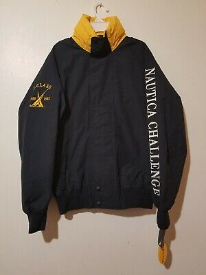 Vintage Nautica Challenge Spell Out Sailing Jacket J Class size Small  / new