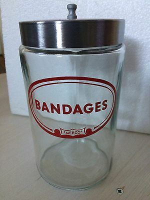 Vintage Merco Medical Bandages Jar Canister Apothecary Doctor Dentist