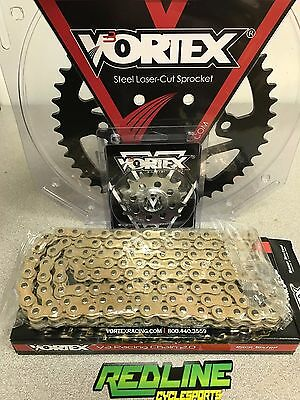 Vortex 520 gold Chain Sprocket Kit   front and rear for 2007-2018 Honda CBR600RR