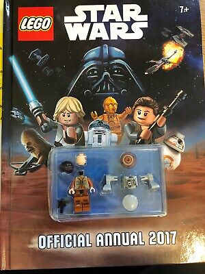 Official LEGO Star Wars Annual 2017 Hardcover w/Ezra and Chopper Minifigures