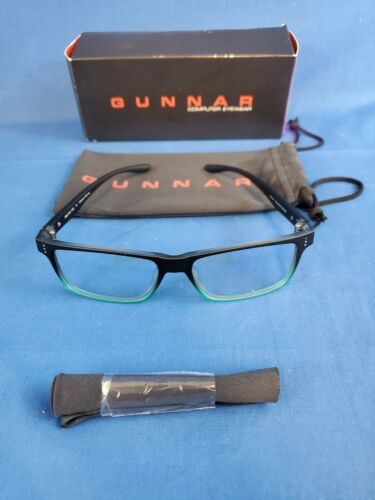 New Gunnar Cruz Clear Lens Block Blue Light Onyx-Emerald Eyewear CRU-08409