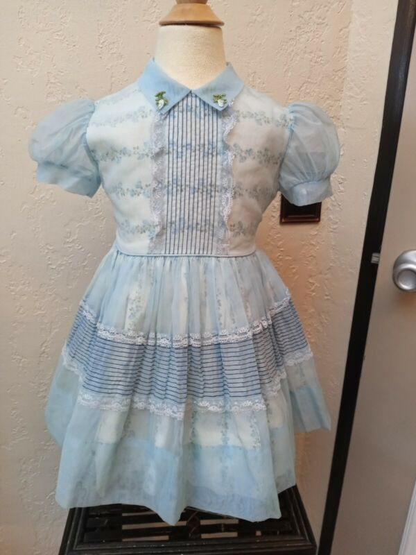 Vintage Lil Bee Nylon And Cotton Party Dress Tag 3 Free Shipping!