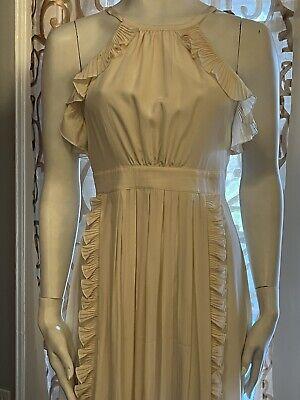 Tibi New York Creme Silk Ruffle Dress