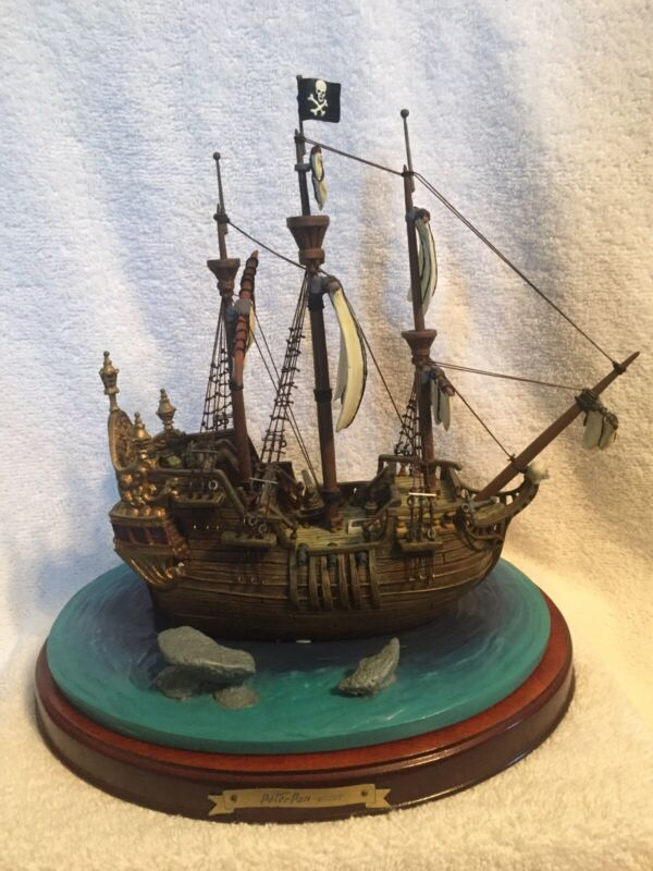 """Walt Disney Enchanted Places """"The Jolly Roger"""" Ship From Peter Pan"""