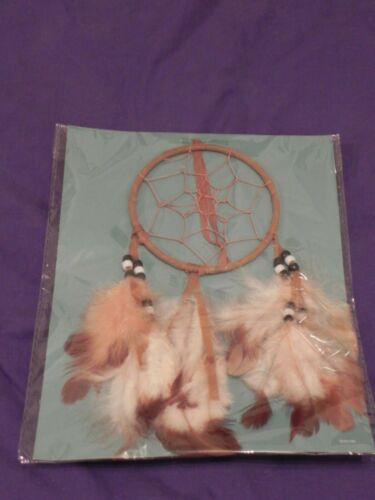"""Legend Of The Dreamcatcher, 8"""" Native American Black & White Beads, Feathers"""