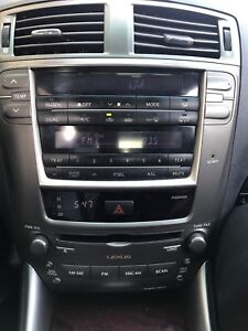 2006 LEXUS IS 250 CLIMATE CONTROL AND RADIO CD PLAYER