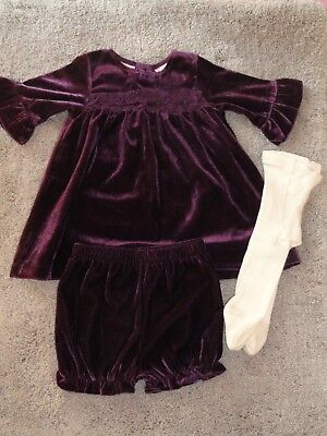 Kids Valentines Outfits (Koala Kids Baby Girl 3-6 month 2 Piece Valentines Outfit..Purple Velour)
