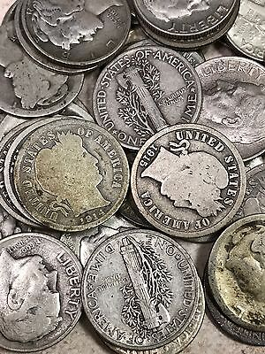 Antique Coin Collection Of Barber  Mercury    90  Silver Roosevelt  10C