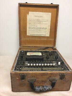 Vintage Precision Tube Battery Tester Series 612