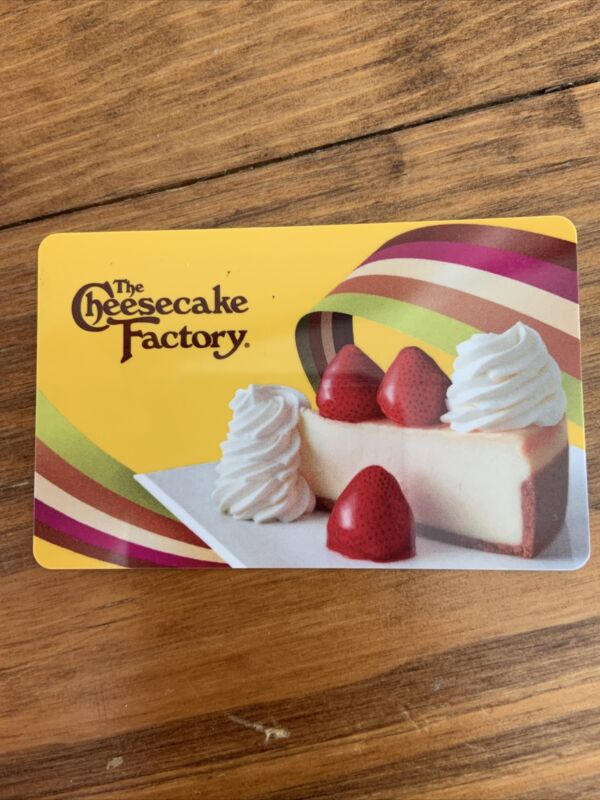 cheesecake factory gift card $25.00