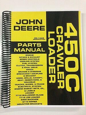 Parts Manual For John Deere 450c Crawler Loader Bulldozer Assembly Manual