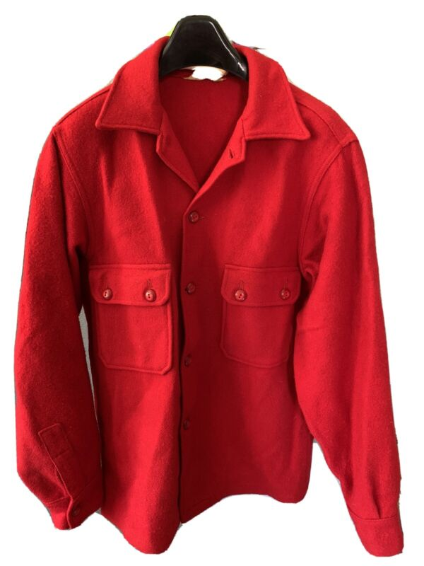 Vintage Official Boy Scouts Of America Red Wool Jacket 60s