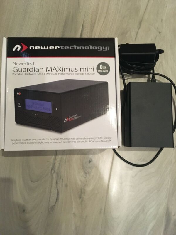 NewerTechnology Guardian MAXimus Mini RAID External Hard Drive Enclosure. MINT