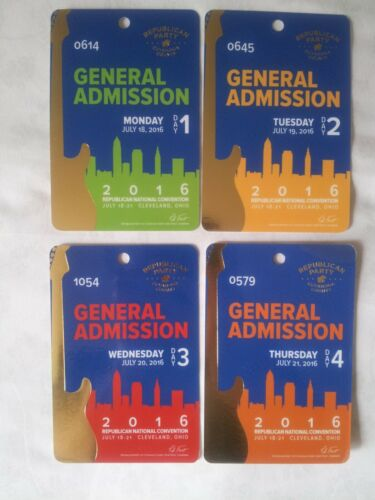 2016 RNC Cleveland General Admission Republican Party Cuyahoga County