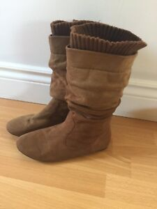Women's suede boots size 8.5
