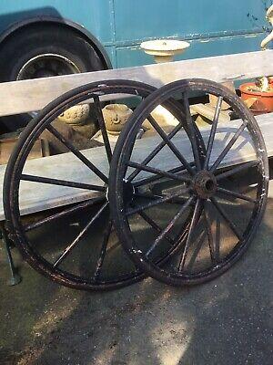 vintage metal cart wheels
