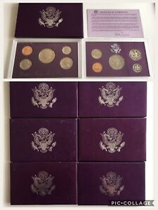 Lot of 1980s-1990s United States Mint Proof Sets