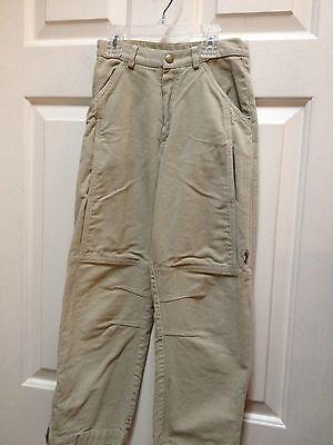 Boys 8 Khaki Tan PANTS MOLESKIN Super Soft Brushed Cotton PENGUIN JACADI Paris