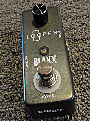 Stagg Blaxx BX-LOOP LOOPER Guitar effects Pedal RECORD , PLAY, LOOP, TRUE BYPASS