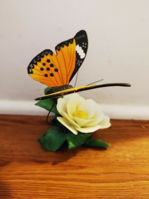 Flower And Butterfly Figurine