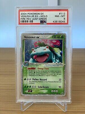 2004 Pokemon EX Fire Red & Leaf Green 112/112 Venusaur ex PSA 8