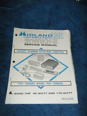 Midland Lmr Syntech Ii Txrx 70-3400 70-3800 Vhf 40110 Watt Service Manual 3
