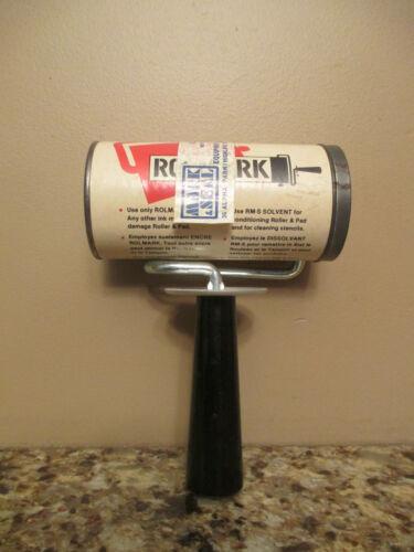 """Vintage March Rolmark Ink Roller w/ 3"""" Wide Pad - Unused - NOS in Tube"""